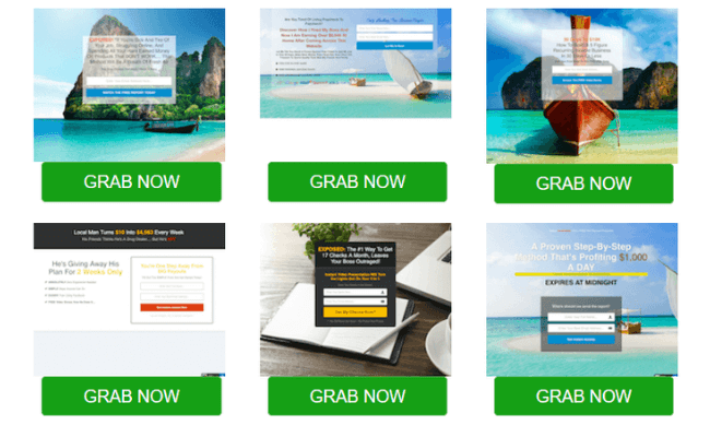Income Sites Online Review - Landing Pages