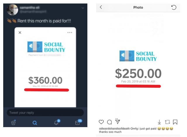 Social Bounty Review - Fake Payouts