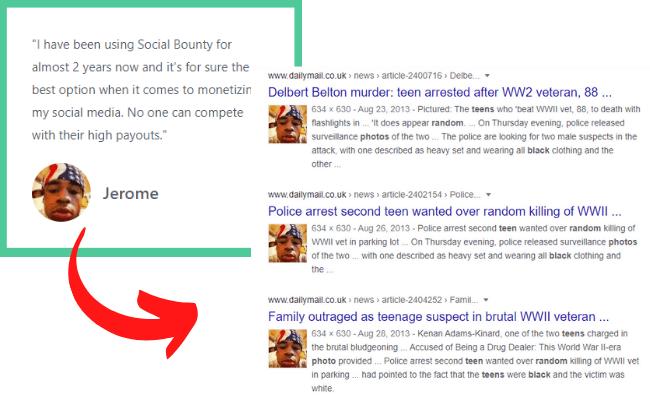 Social Bounty Review - Fake Testimonial