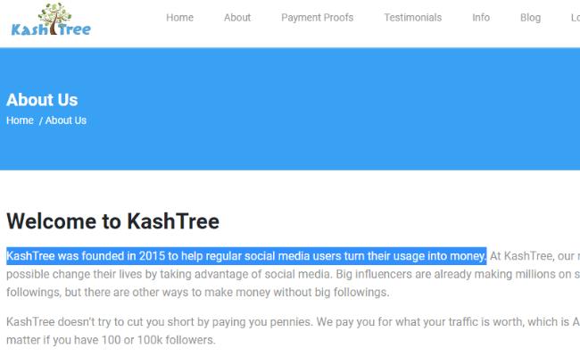 KashTree Scam Sign