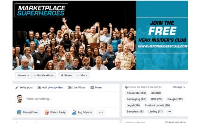 MarketPlace SuperHeroes Facebook Community