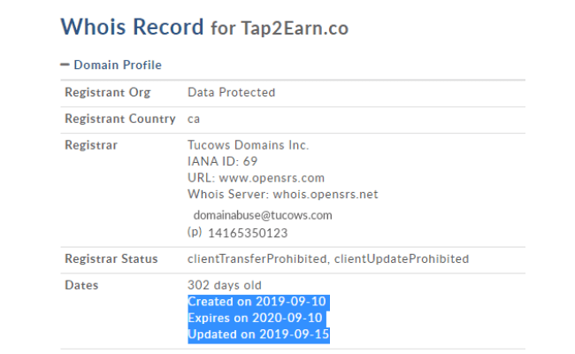 Tap2Earn Review - Domain Date