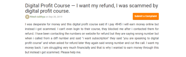 Digital Profit Course Reviews & Complaints #3