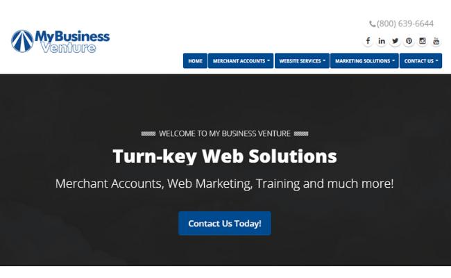 My Business Venture Homepage