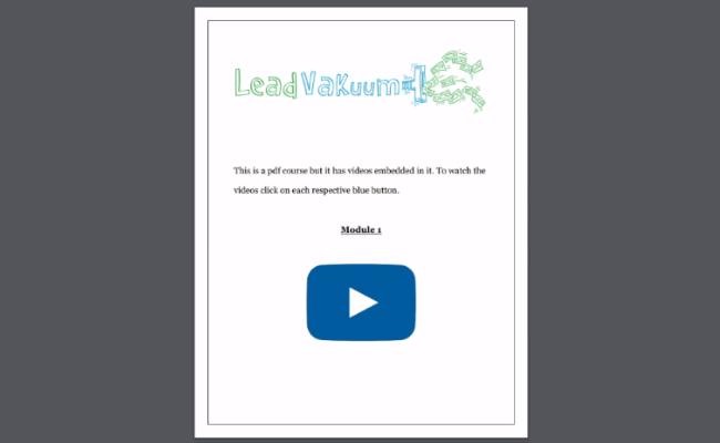Lead Vacuum Training Area