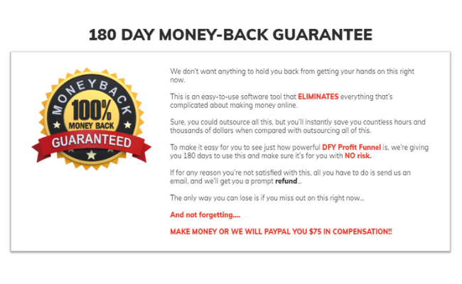 DFY Profit Funnels Review Refund Policy
