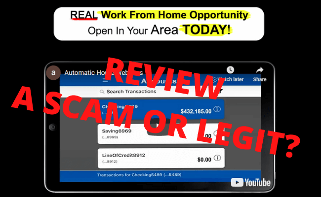Automatic Home Websites Review - Scam Or Legit?