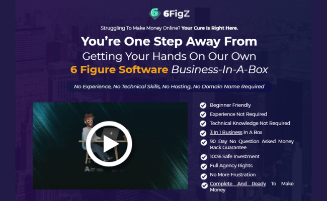 6FigZ Review - Sales Page