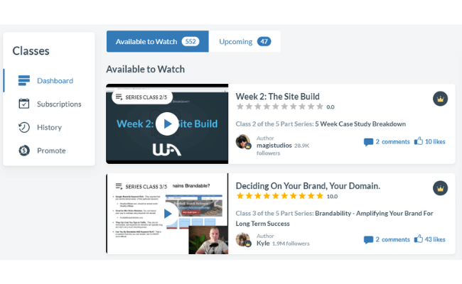 Wealthy Affiliate Review - Live Events