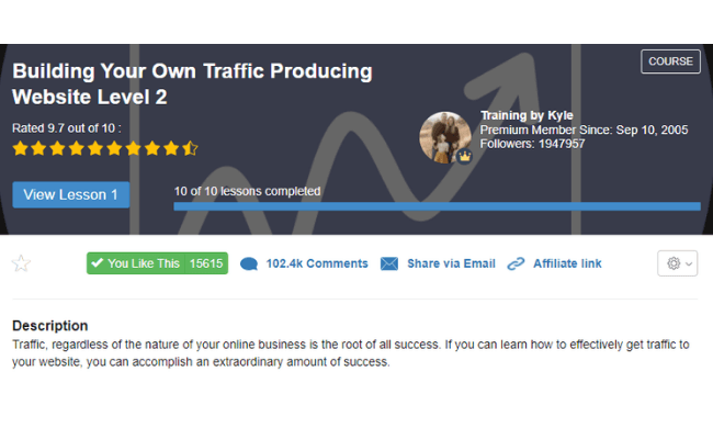 Wealthy Affiliate Review - Level 2