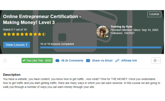 Wealthy Affiliate Review - Level 3
