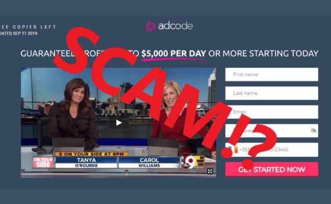 AD Code Scam