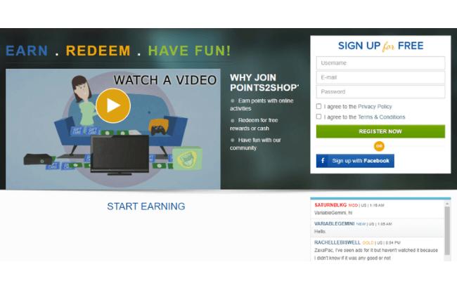 Points2Shop Website