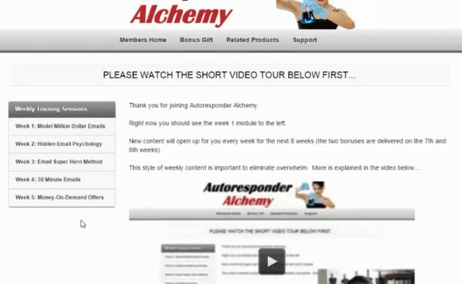 Autoresponder Alchemy Dashboard