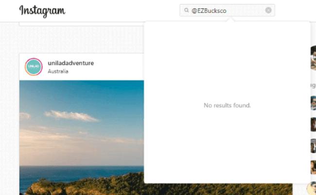 EZ Bucks Review Fake Instagram Account