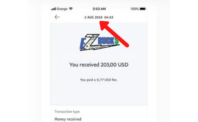 EZ Bucks Review Scam Fake Payment 3