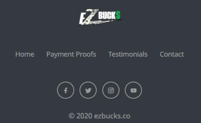 EZ Bucks Review Scam No Legal Pages