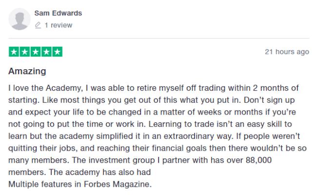 IM Mastery Academy Positive Reviews