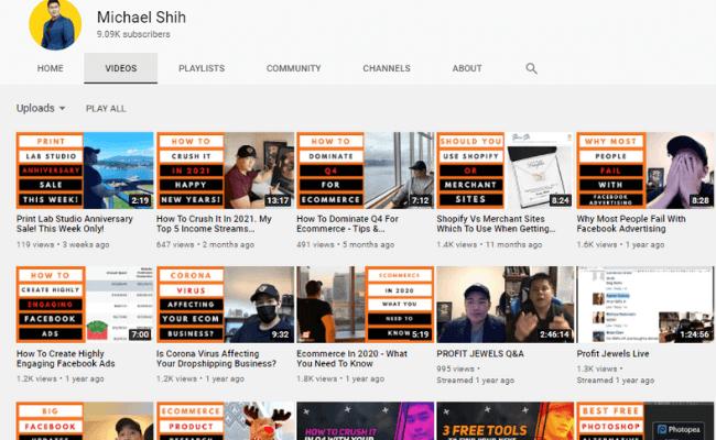 Michael Shih YouTube