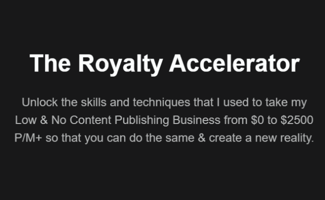 The Royalty Accelerator Review