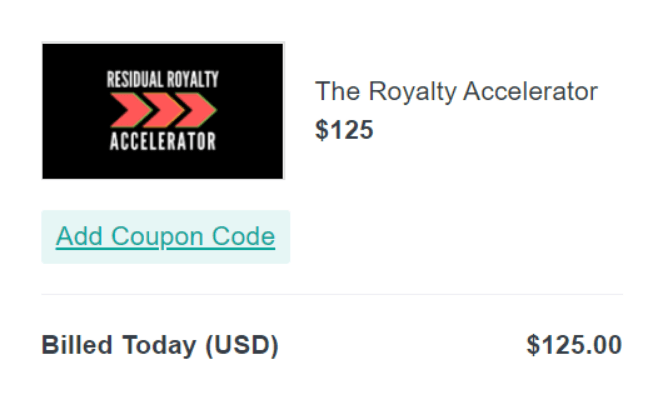 The Royalty Accelerator Price