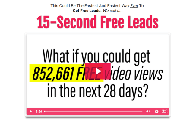15 Second Free Leads Review - Scam Or Legit?