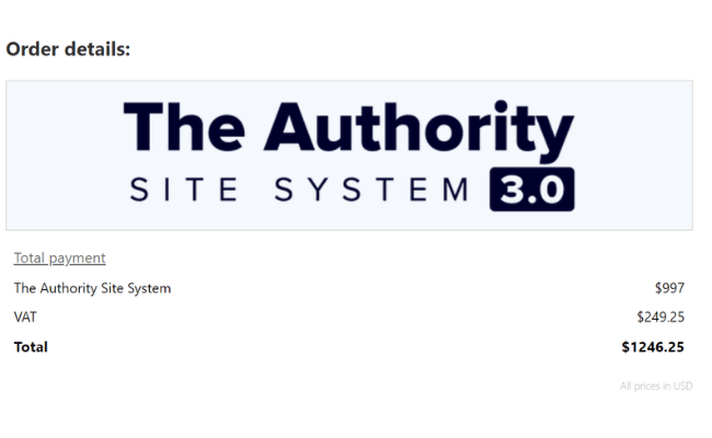 The Authority Site System Review Price