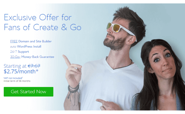 Create And Go BlueHost Offer