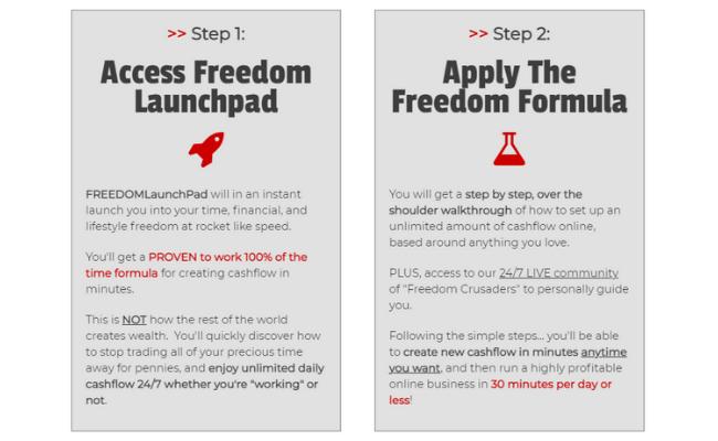 Freedom Launchpad Steps