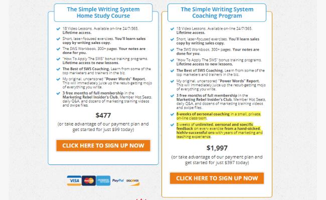 Simple Writing System Price