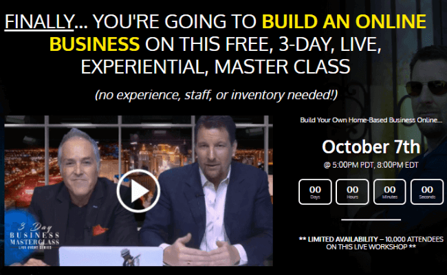 3 Day Business Masterclass Review - Scam or Legit