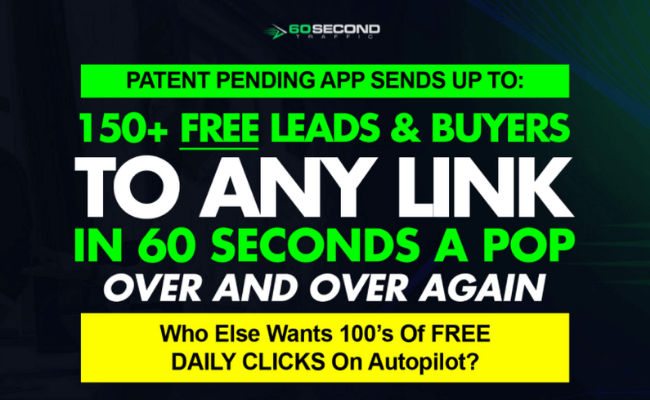 60 Second Traffic Sales Page