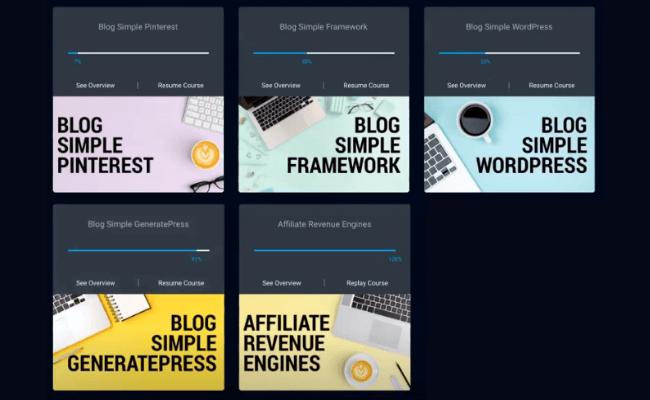 Blog Simple Framework Review - Training Modules