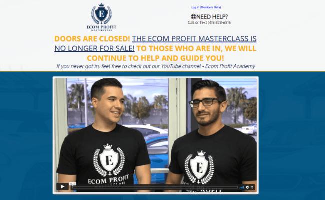 Ecom Profit Masterclass Review