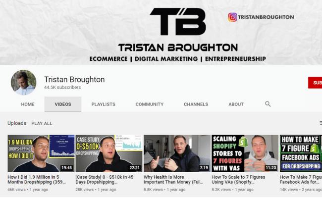 Tristan Broughton YouTube