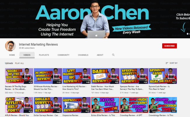 Aaron Chen YouTube Channel