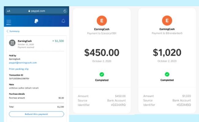 Earningcash.co Review - Fake Income Proof