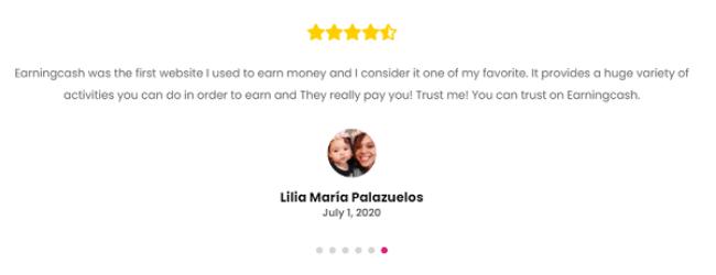 Earningcash.co Review - Fake Testimonials