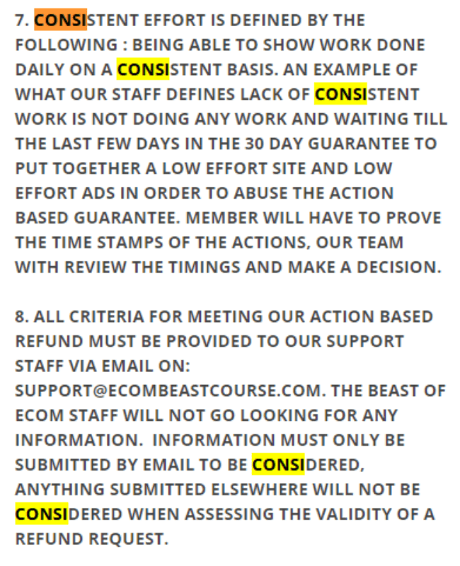 Ecom Beast 2.0 Review Refund Policy