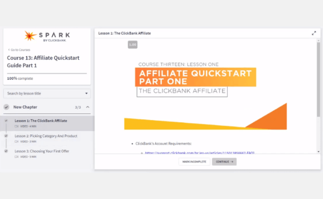 Spark By ClickBank Course 13